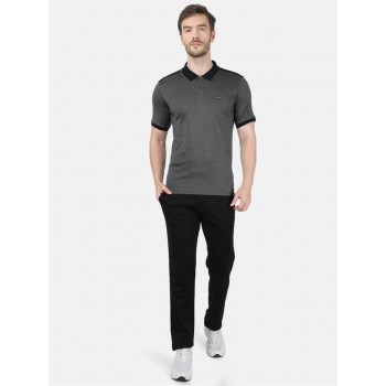 Monte Carlo Men Casual Wear Grey::Black T-Shirt and Bottom Set