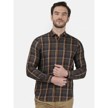 Monte Carlo Men Casual Wear Brown Shirt