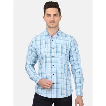 Monte Carlo Men Casual Wear Sky Blue Shirt