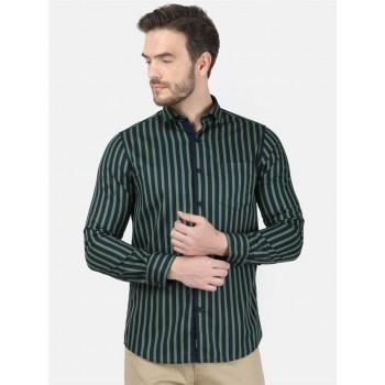 Monte Carlo Men Casual Wear Dark Green Shirt