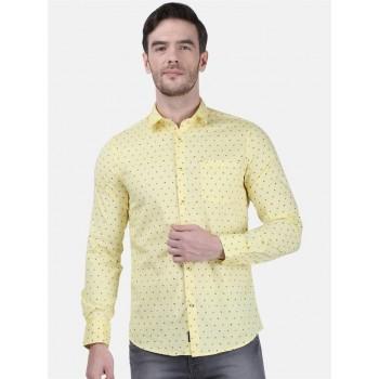 Monte Carlo Men Casual Wear Yellow Shirt