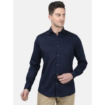 Monte Carlo Men Casual Wear Navy Shirt
