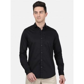 Monte Carlo Men Casual Wear Black Shirt