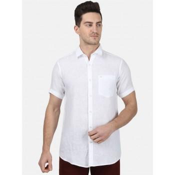 Monte Carlo Men Casual Wear White Shirt