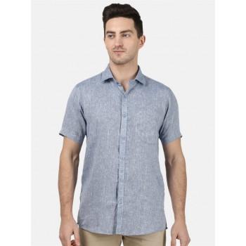 Monte Carlo Men Casual Wear Blue Shirt