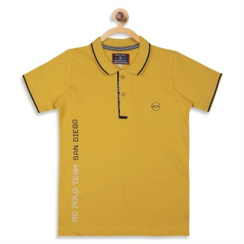 Monte Carlo Boys Yellow Solid T-Shirt