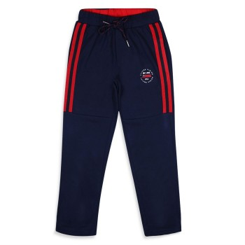 Monte Carlo Boys Solid  Blue Track Pants