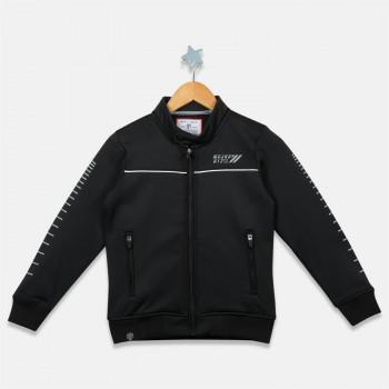 Monte Carlo Boys Casual Wear  Black Band Collar Sweatshirt