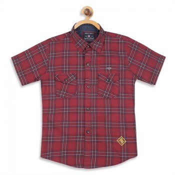 Monte Carlo Boys Checkered  Red Shirt