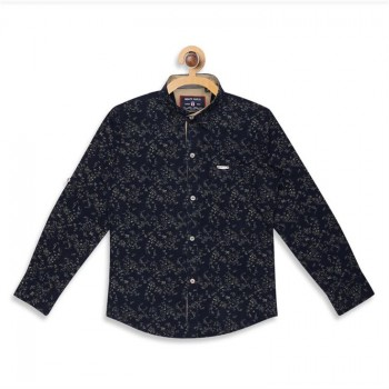 Monte Carlo Boys Printed  Blue Shirt