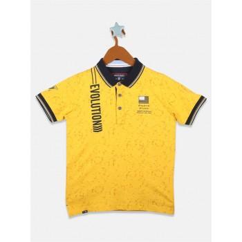Monte Carlo Boys Casual Wear Yellow T-Shirt