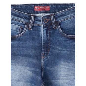 Monte Carlo Boys Casual Wear Blue Denim Shorts