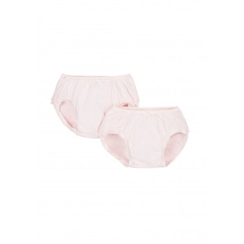 Mothercare Girls White Solid Pack of 2 Nappy cover Briefs