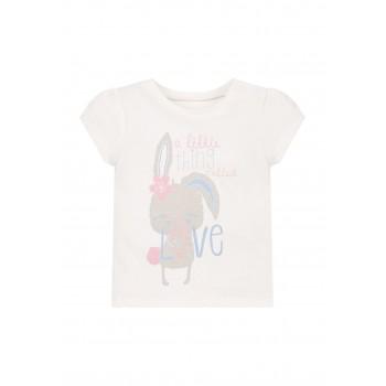 Mothercare Girls White Printed T-Shirt
