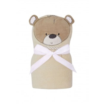 Mothercare Unisex Beige Textured Swaddle Towel Wrap