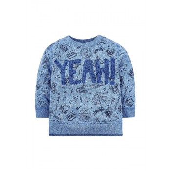 Mothercare Boys Blue Applique Sweatshirt