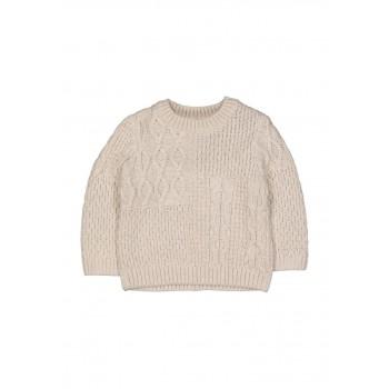 Mothercare Boys Off White Self Design Pullover