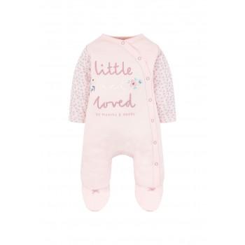 Mothercare Girls Pink Printed Snowsuit