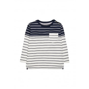 Mothercare Boys Navy Striped T-Shirt