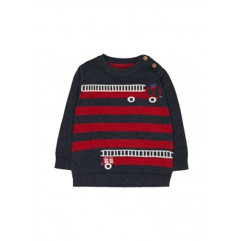 Mothercare Boys Navy Striped Pullover
