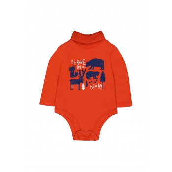 Mothercare Boys Orange Printed Bodysuit