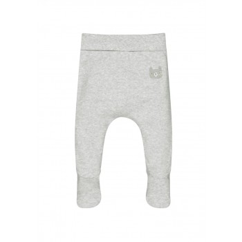 Mothercare Unisex Grey Solid Leggings With Feet