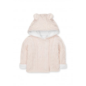 Mothercare Girls Pink Self Design Cardigan
