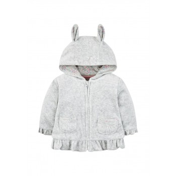 Mothercare Girls Grey Solid Jacket