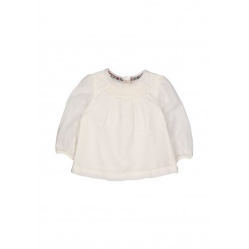 Mothercare Girls Off White Solid Top