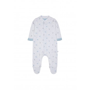 Mothercare Boys White Printed Sleepsuit