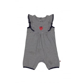 Mothercare Girls Navy Striped Romper