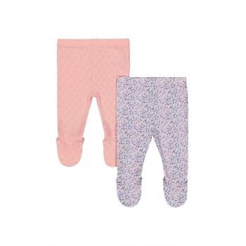 Mothercare Girls Pink Printed Pack of 2 Leggings