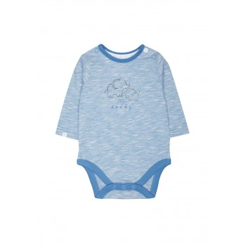 Mothercare Boys Blue Textured Bodysuit