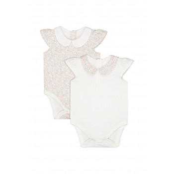 Mothercare Girls White Printed Pack of 2 Bodysuit