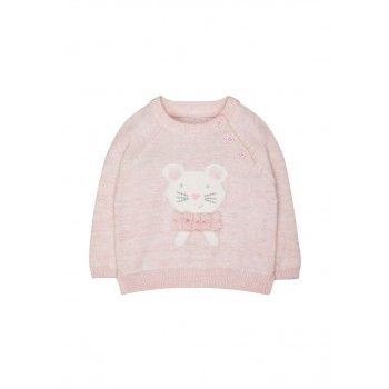 Mothercare Girls Pink Applique Sweater
