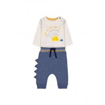 Mothercare Boys Multicolor Printed Bodysuit & Joggers Set
