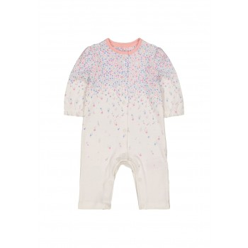 Mothercare Girls White Printed Sleepsuit