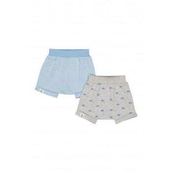 Mothercare Boys Blue Printed Pack of 2 Shorts