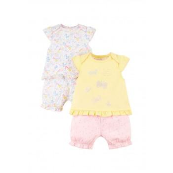 Mothercare Girls Multicolor Printed Top & Shortie Pyjama  Set