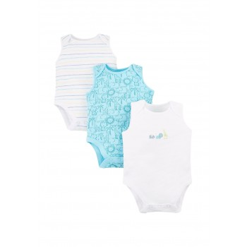 Mothercare Boys Assorted Printed Pack of 3 Bodysuit