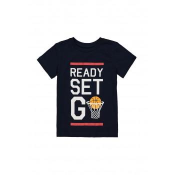 Mothercare Boys Navy Graphic Print T-Shirt