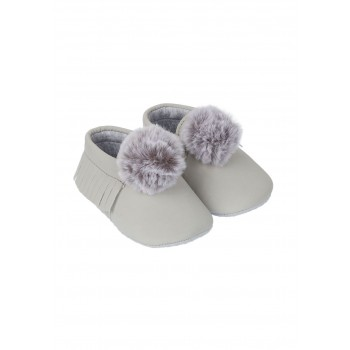 Mothercare Boys Grey Solid Shoes