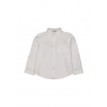Mothercare Boys White Solid Shirt