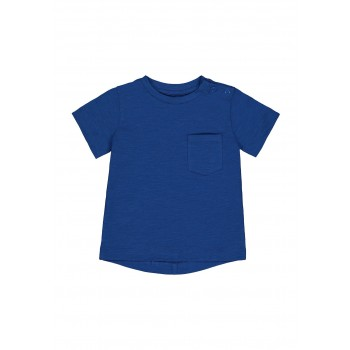 Mothercare Boys Blue Solid T-Shirt