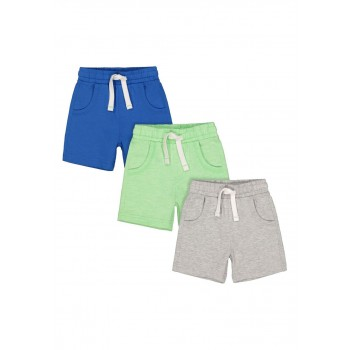 Mothercare Boys Assorted Solid Pack of 3 Shorts