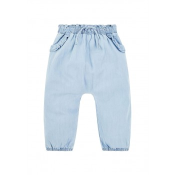 Mothercare Girls Blue Solid Trousers