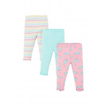 Mothercare Girls Assorted Printed Pack of 3 Leggings