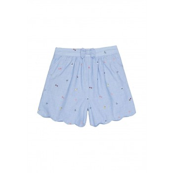 Mothercare Girls Blue Embroidered Shorts