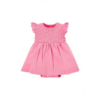 Mothercare Girls Pink Solid Dress & Panty Set