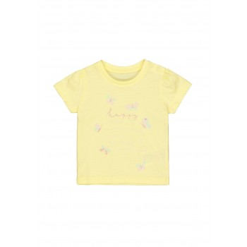 Mothercare Girls Yellow Printed T-Shirt